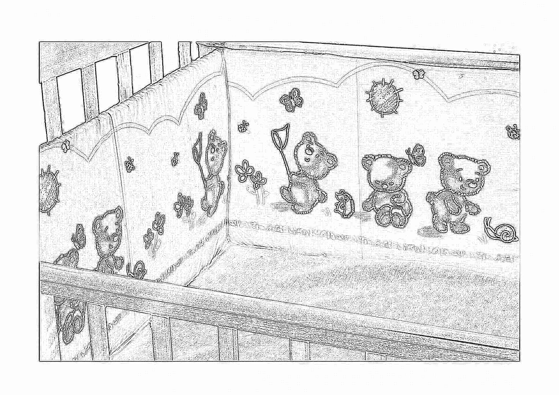 Бортики в кроватку для новорожденных 32 на 32