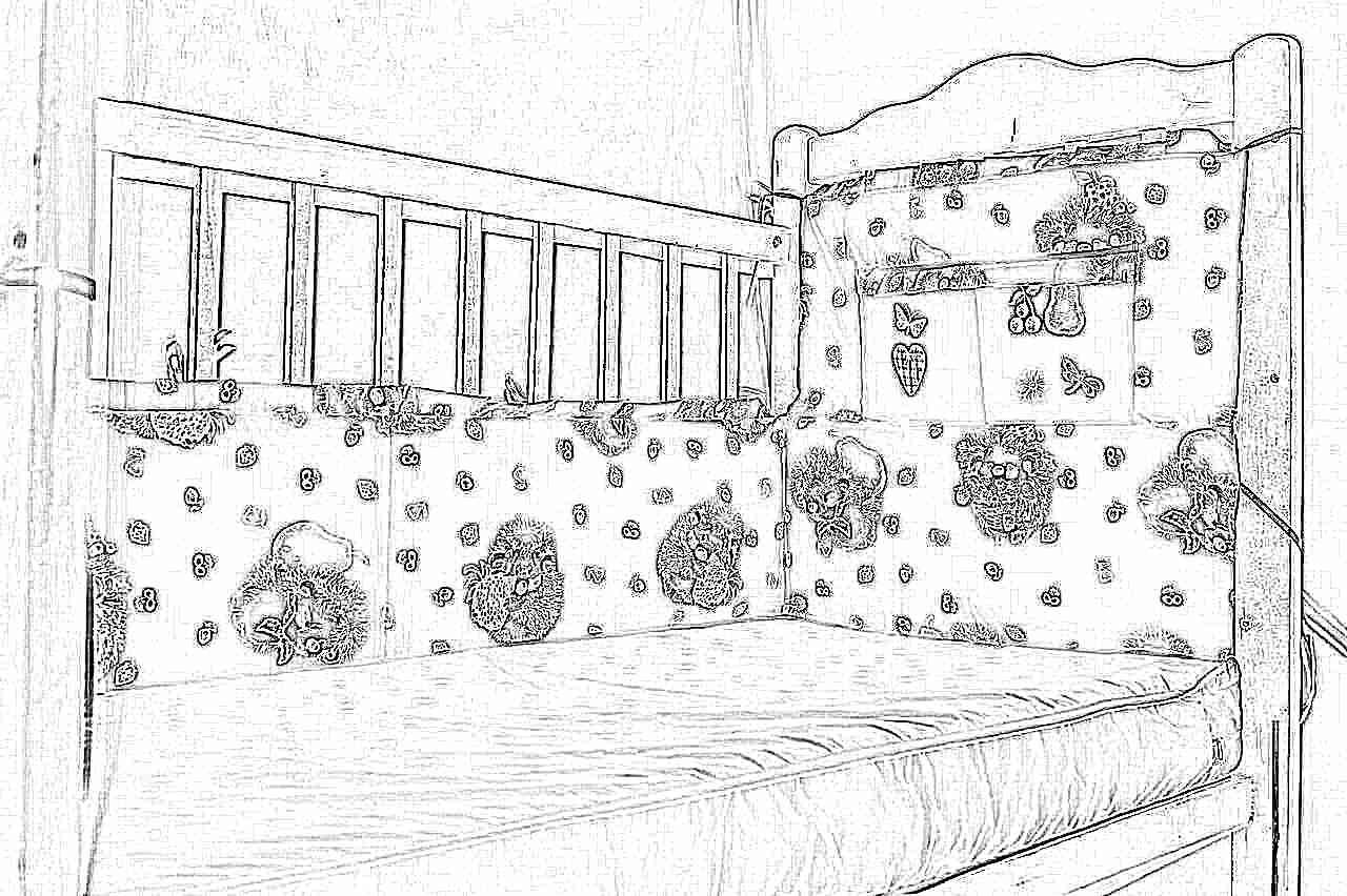 Бампер для детской кровати своими руками