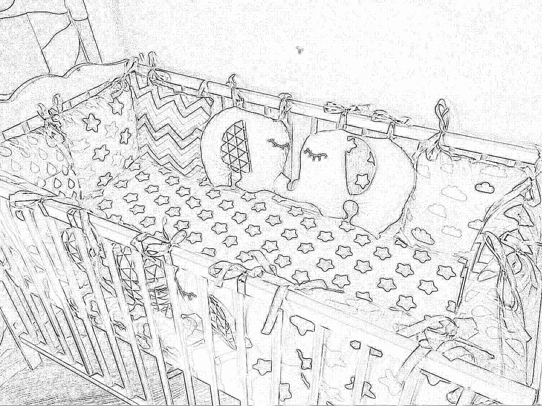 Как сделать бортики для детской кроватки фото