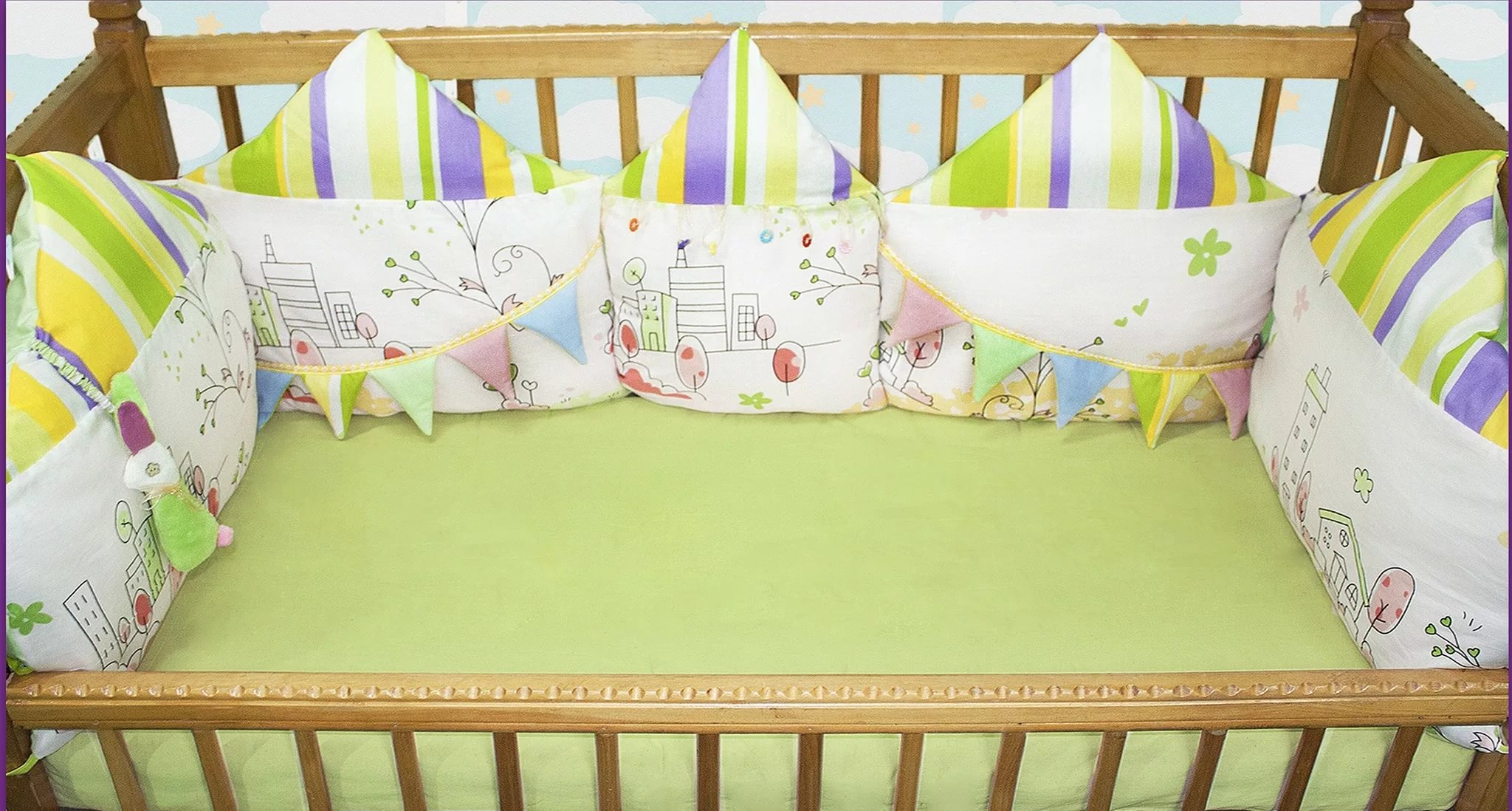 Сшить подушки в детскую кроватку мастер класс 38