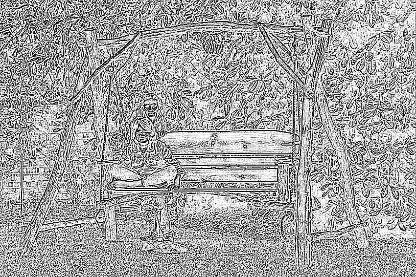 Сделать детские качели на даче из дерева чертежи