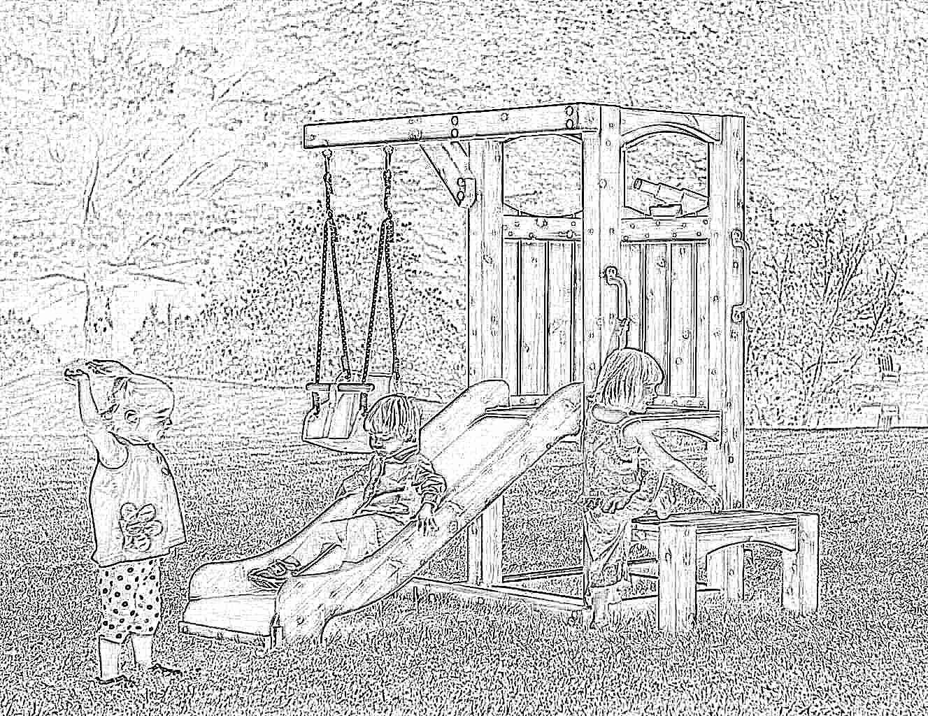 Как сделать качели ребенку из дерева 365