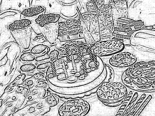 Детский праздник дома стол меню