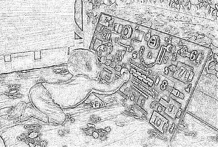 Доска для детей бизиборд