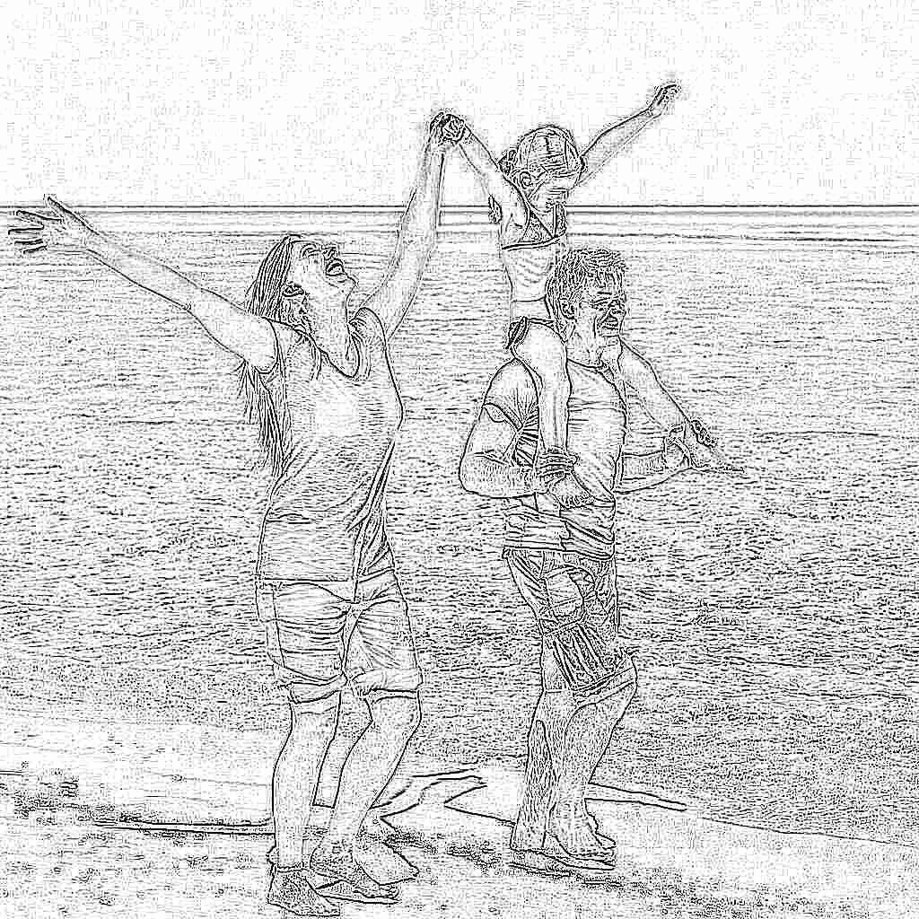 Фото с пляжей семейное с детьми