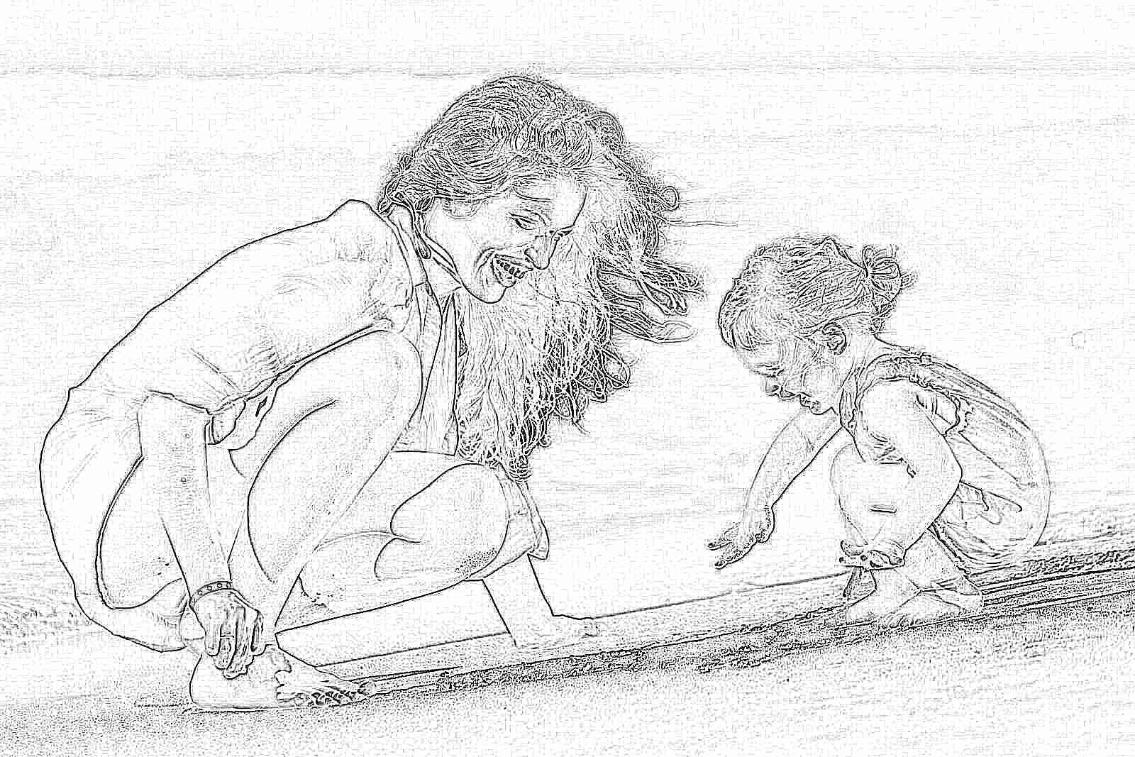 Фото мамы с детьми море