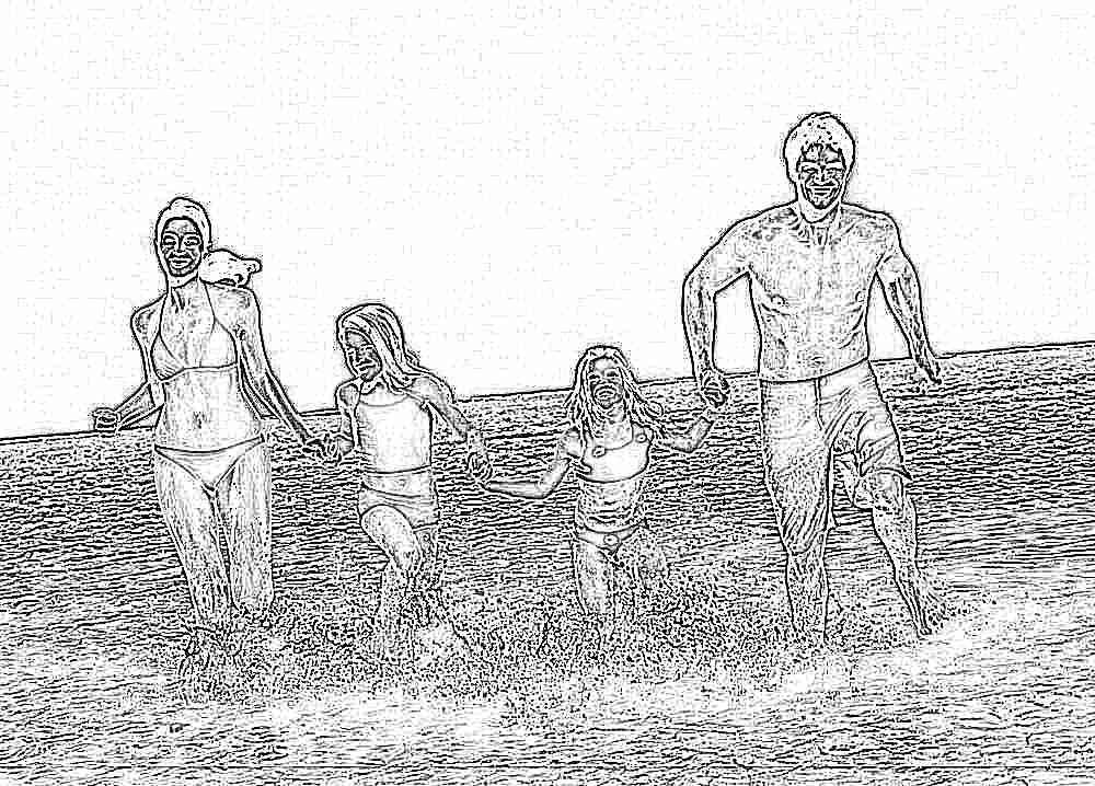 Как сделать красивое семейное на море