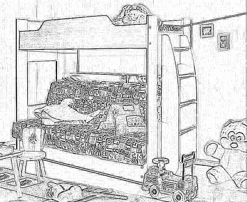 двухъярусные детские кровати с диваном внизу фото