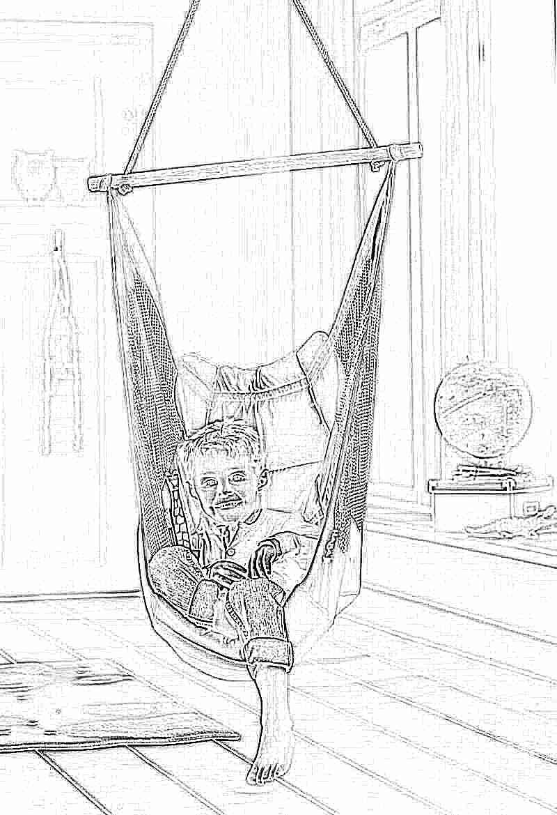 Детские подвесные качели: пластиковые модели для квартиры ...