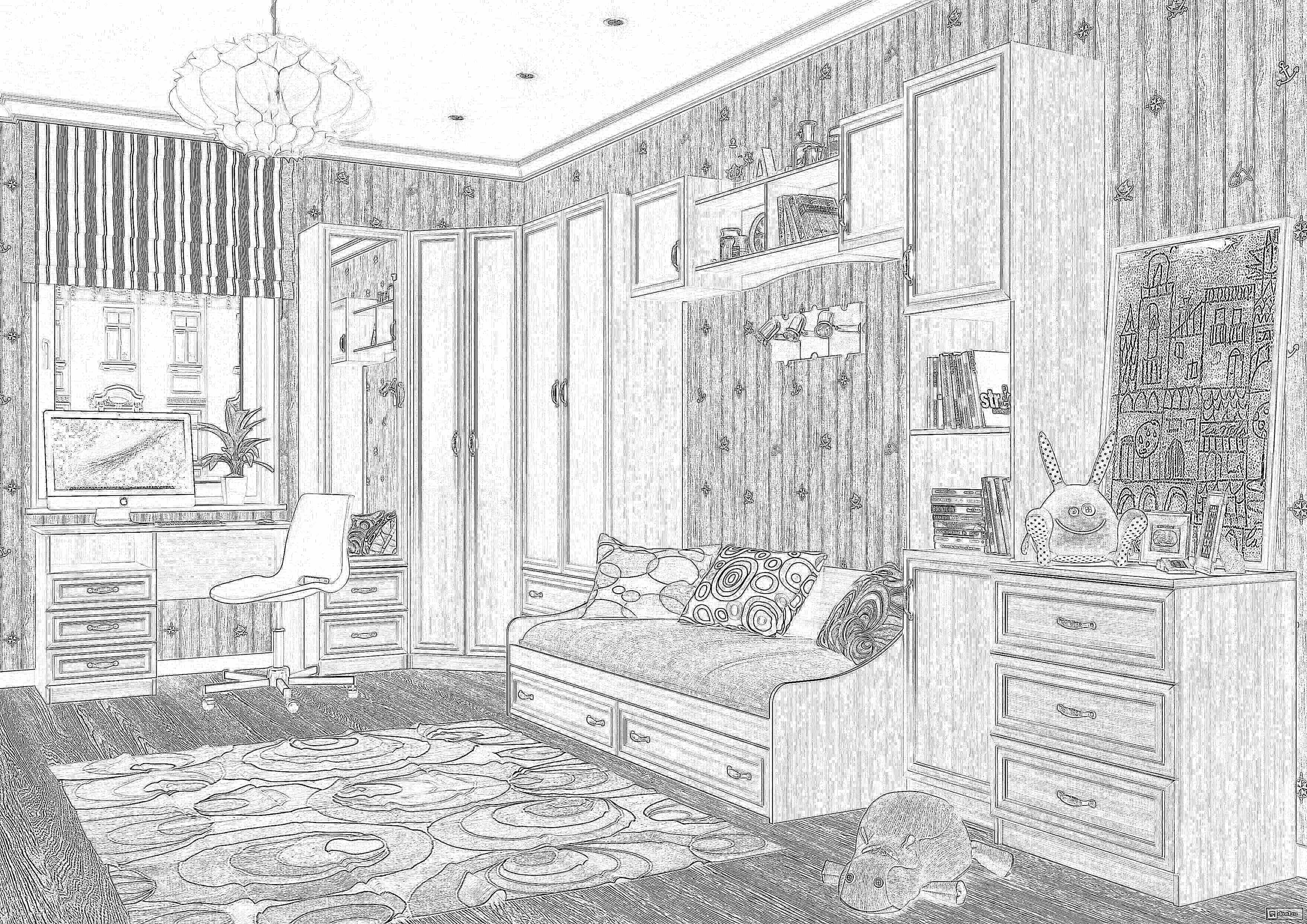 """Мебель для детской """"вега""""от """"св мебель""""."""