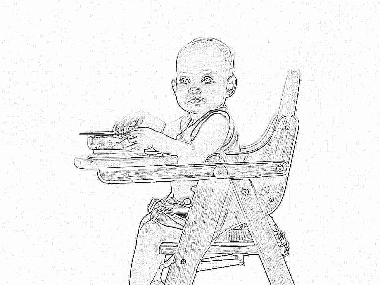 Как самому сделать стульчик для кормления ребенка