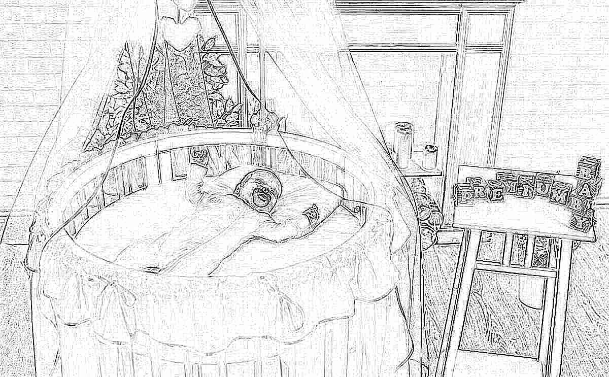 кроватки круглые детские фото