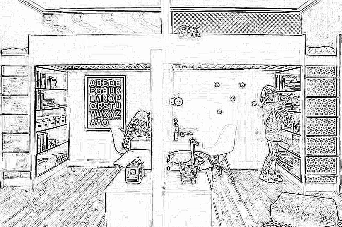 Дизайн комнаты для разнополых детей подростков
