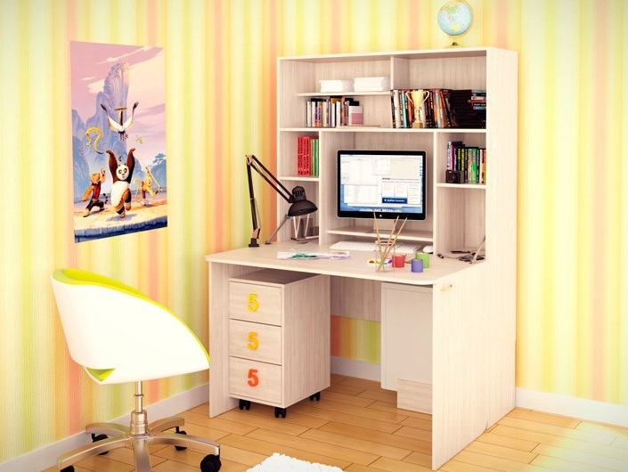 Письменный стол с ящиками для школьника 46 фото размеры детских угловых моделей с полками для двоих малышей