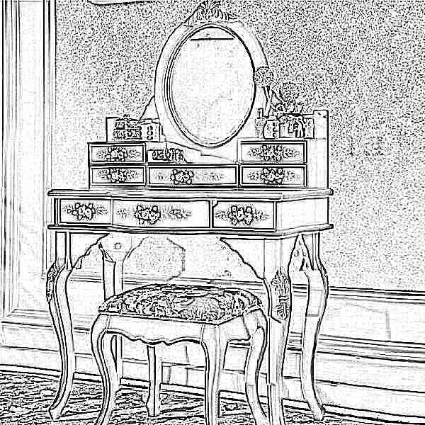 купить макияжный столик с зеркалом