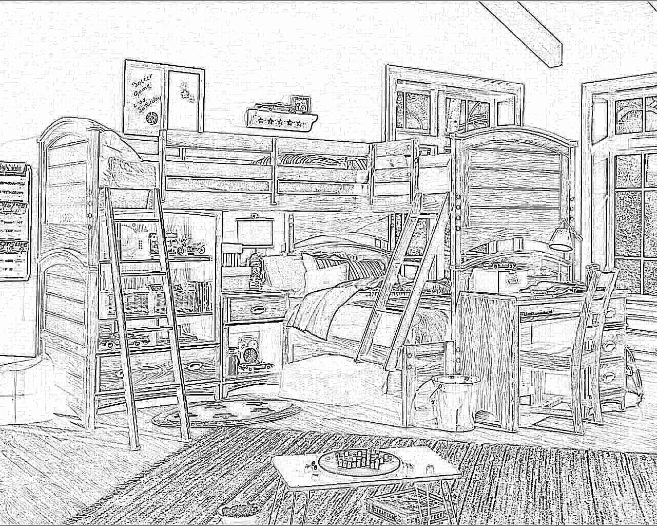 Необычные двухъярусные кровати для детей фото