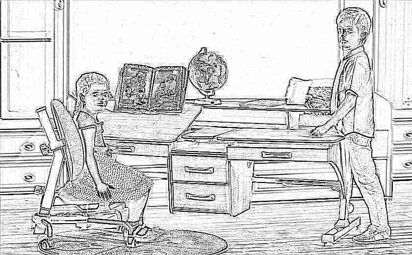 Детский стол, регулируемый по высоте: двухместные модели для.