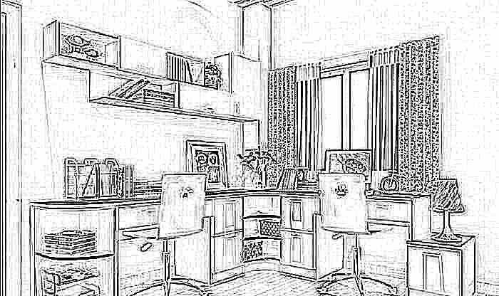 фото письменные столы для двоих детей