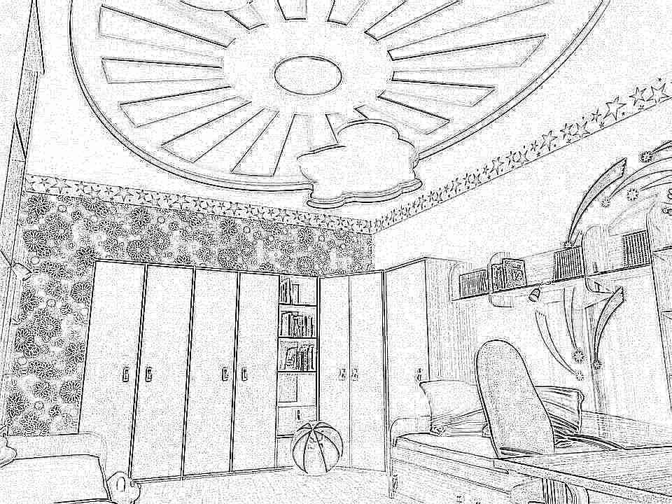 Как сделать потолок в детской комнате своими руками 88