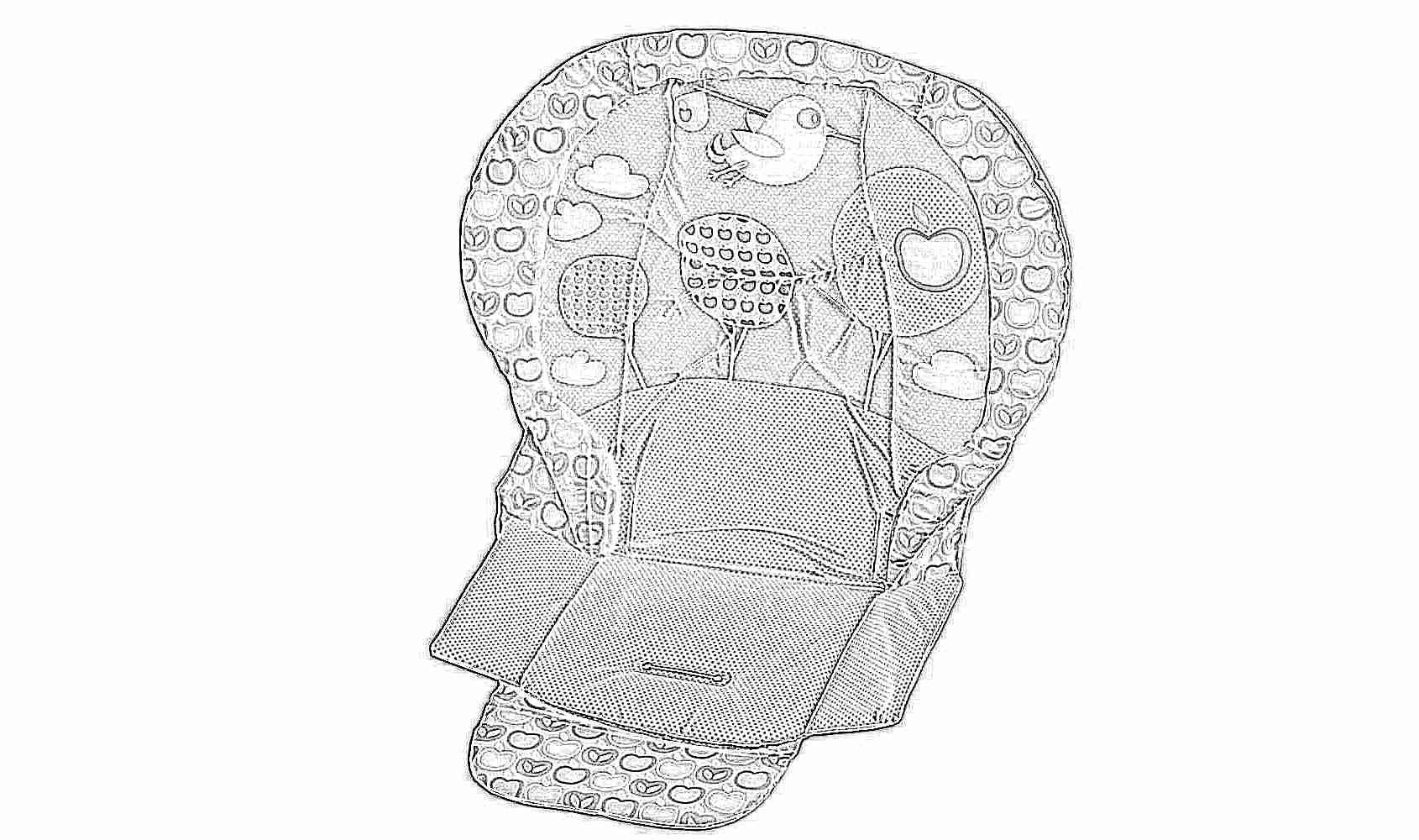 Чехол на детский стульчик для кормления своими руками 61