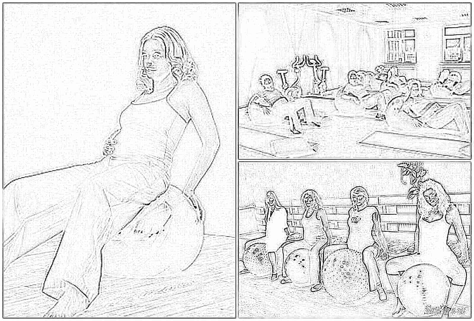 Оборудование для занятий с беременными 96