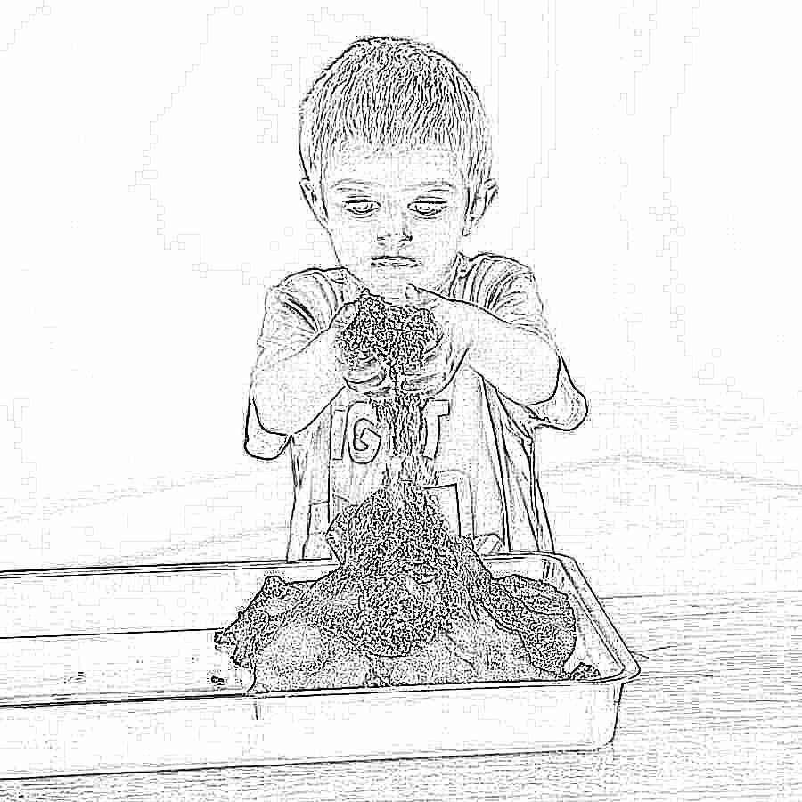 Песок своими руками для детей 38