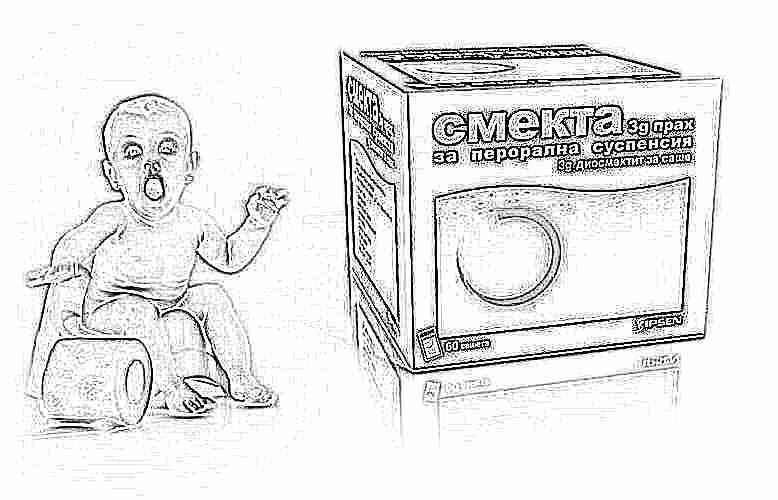 Смекта при поносе у ребенка: инструкция по применению при диарее и жидком стуле для детей до года, как дать годовалому ребенку, отзывы