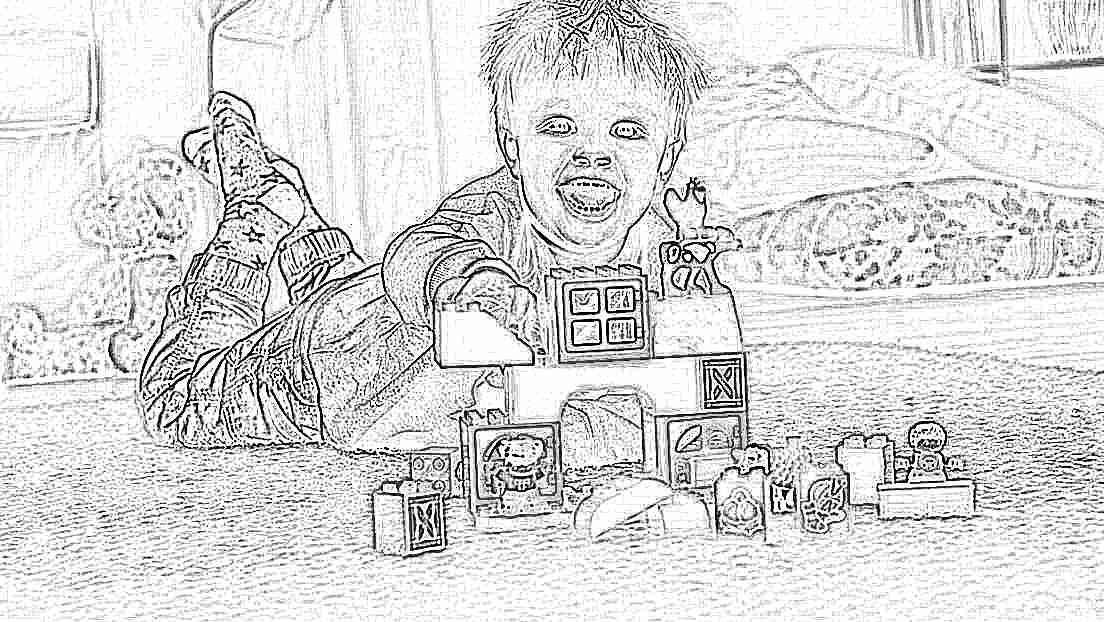 Пластиковый конструктор для детей большой