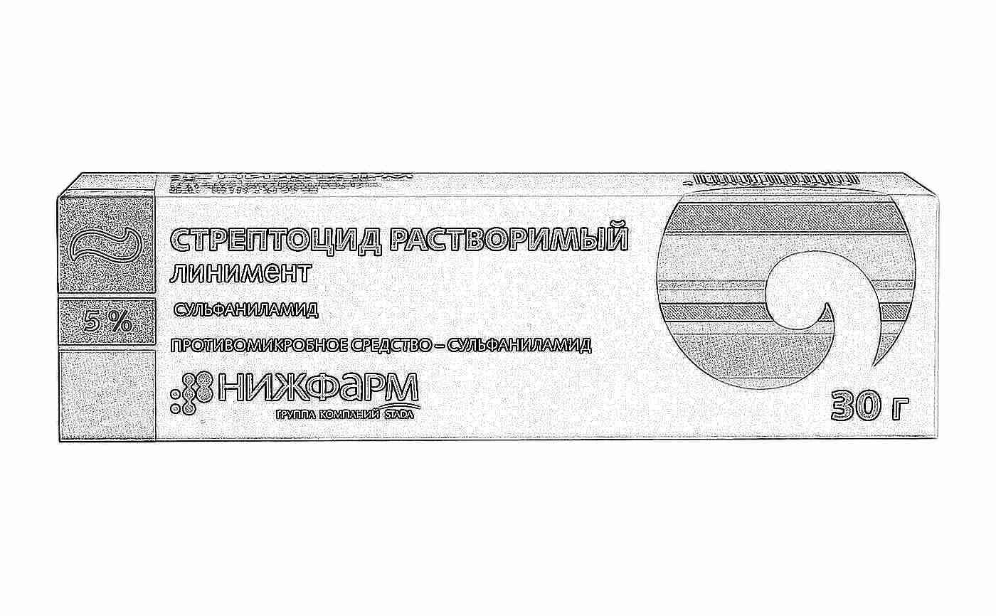 Стрептоцид таблетки применение для горла инструкция