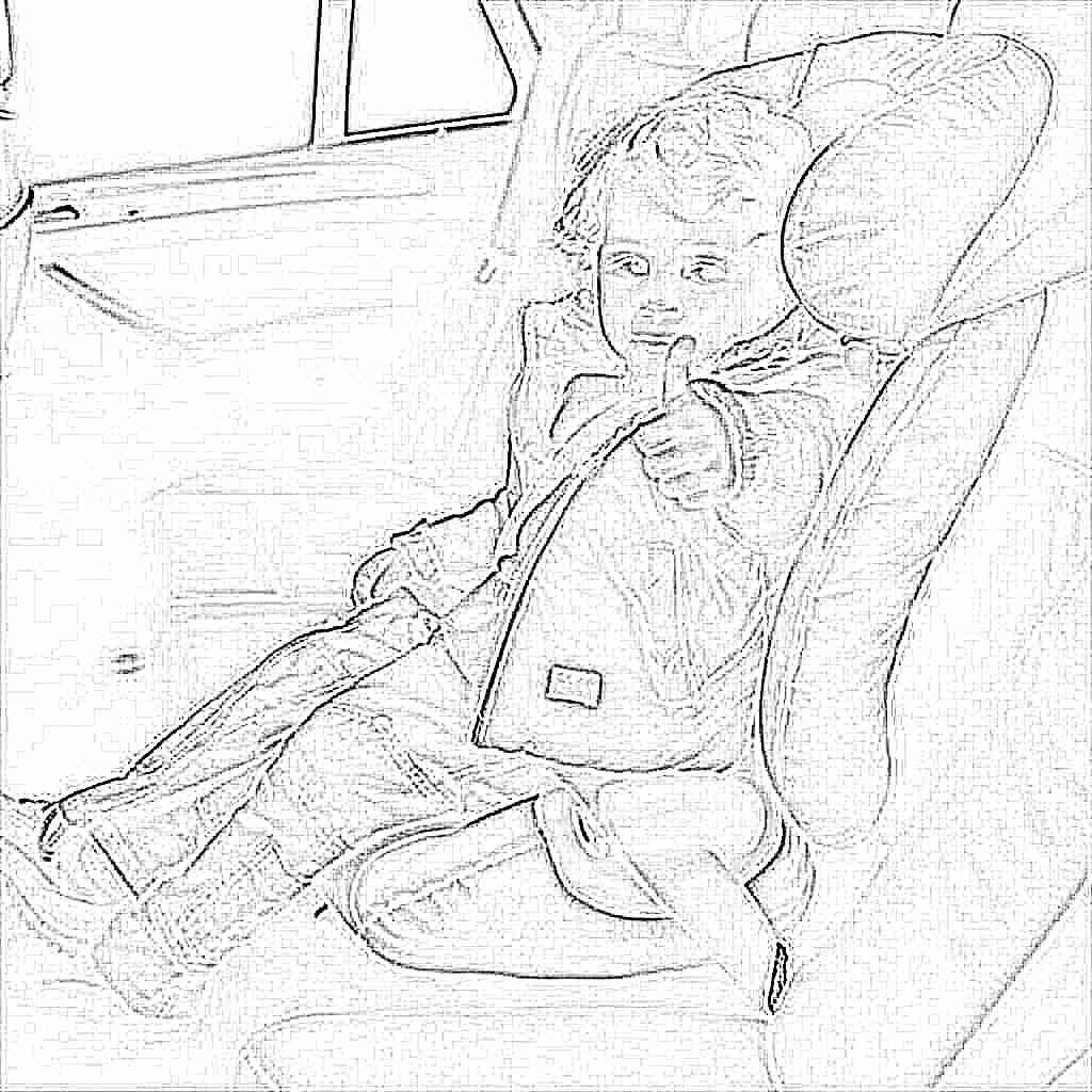 Фото детей в автомобильном детском кресле
