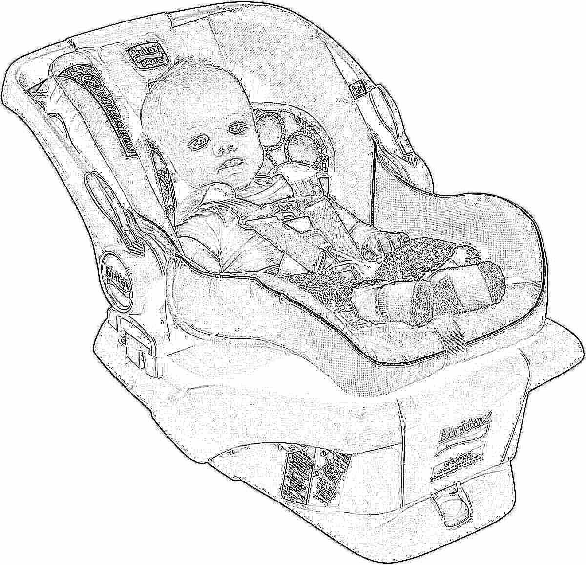 кресло в машину для новорожденных фото
