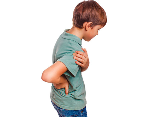 У ребенка болит спина в области позвоночника