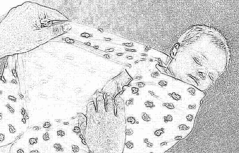 Как запеленать новорожденного в пеленку схема фото 505