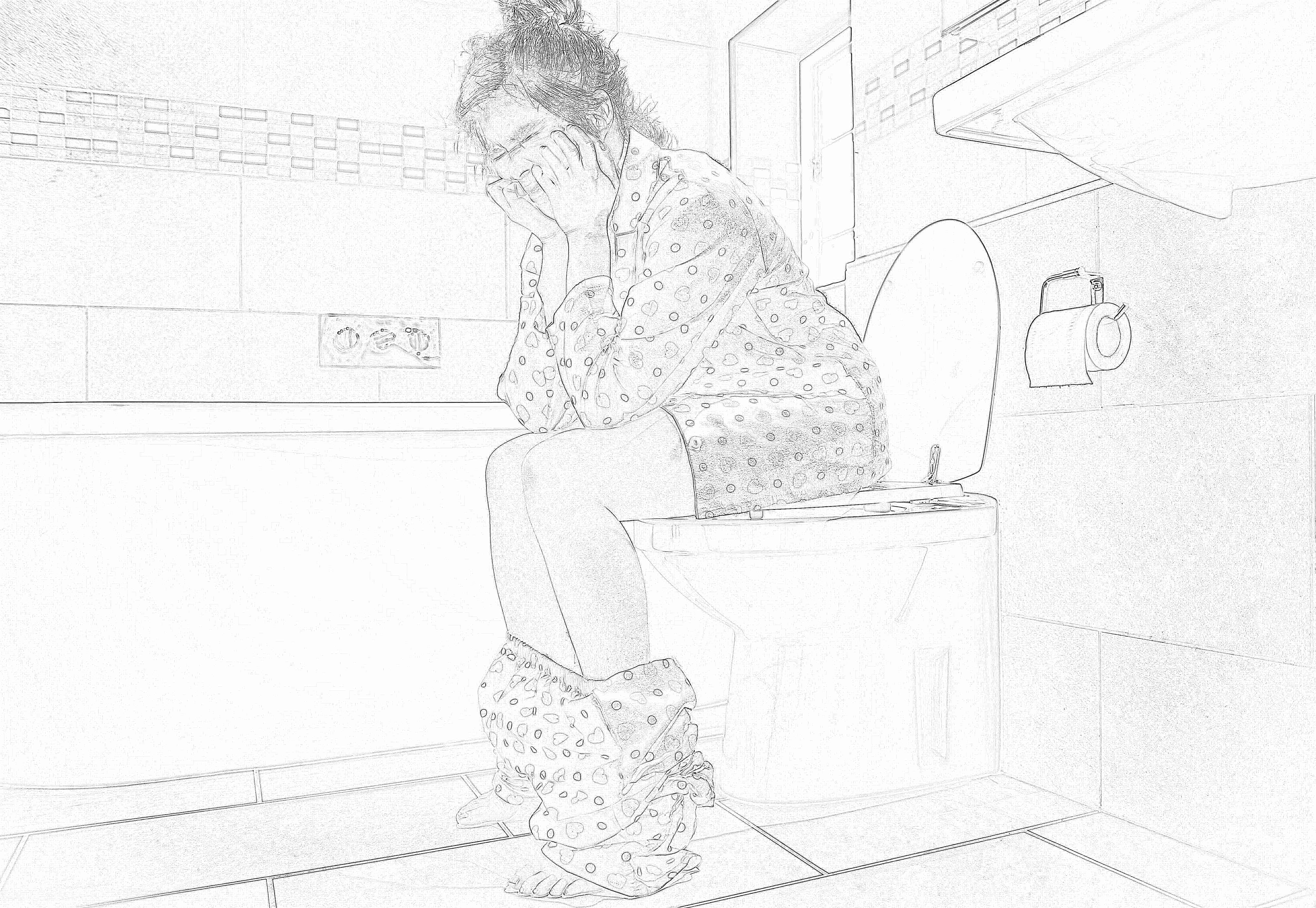фото женщина на туалете жилье