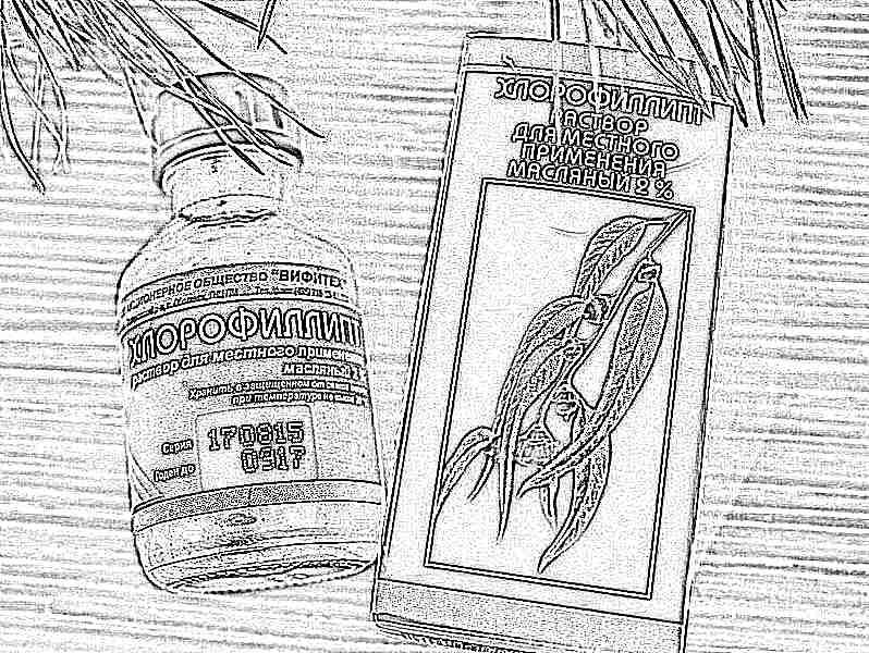 Хлорофиллипт для детей для лечения горла