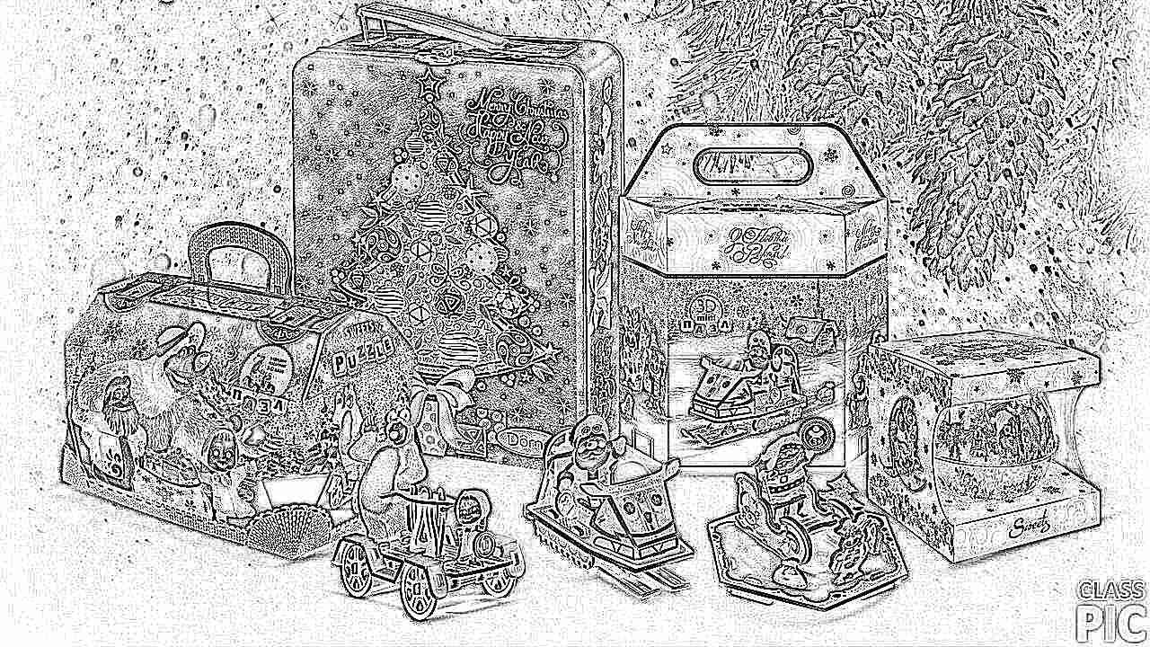 Картинки с новогодними подарками для детей