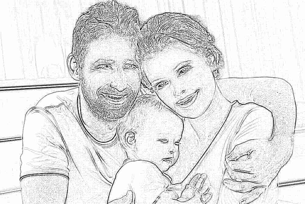 Картинка семья малыша