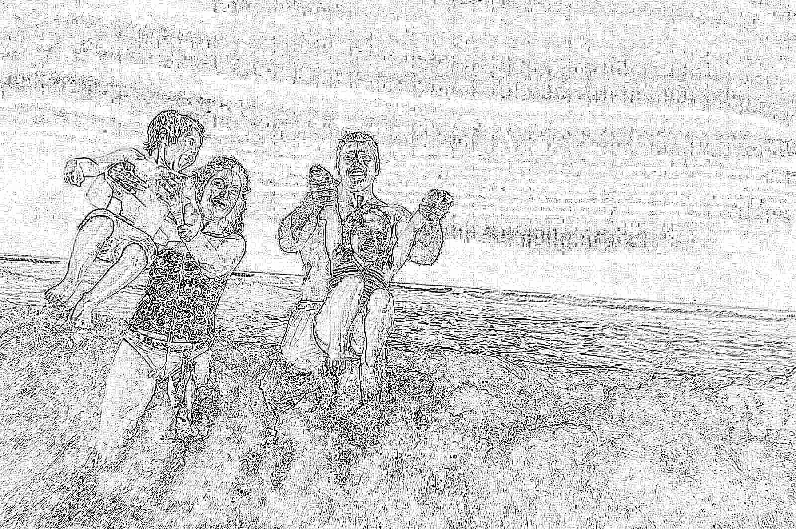 картинка с детьми летом море было