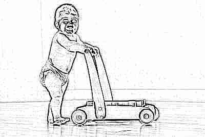 Ходунки-каталка для обучения хождению