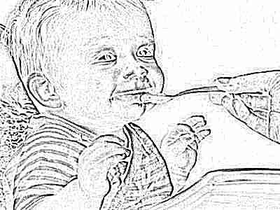Пюре ест ребенок