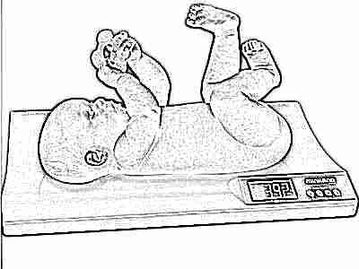 Ребенок набирает вес