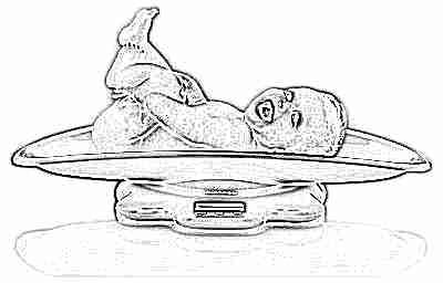 Взвешивание ребенка-грудничка