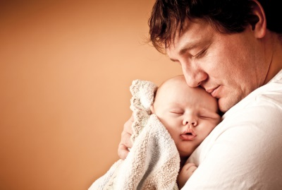 Помощь мужа, ночью с ребенком