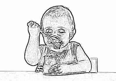 Кефир пьет ребенок в чистом виде