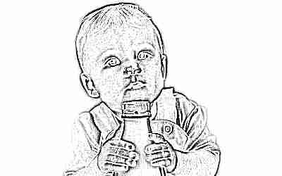 Кефир пьет ребенок