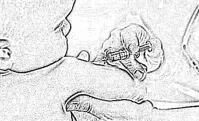 Прививки защищают малыша