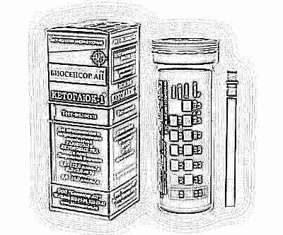 тест для определения ацетона в моче