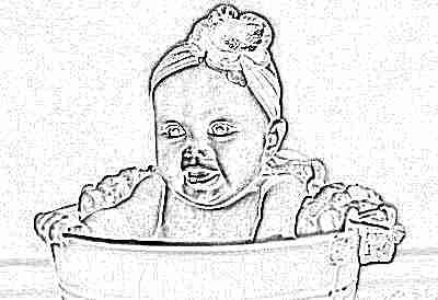 Очаровательный малыш девочка