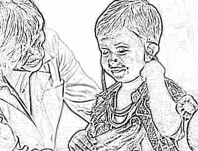 Ребенок грудной у доктора