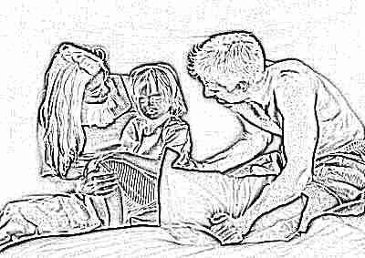 Родители и ребенок дочка